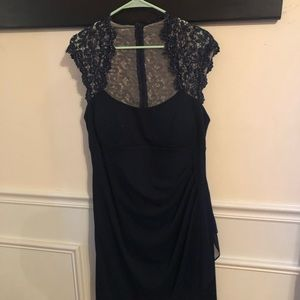 Dresses & Skirts - Navy formal short gown